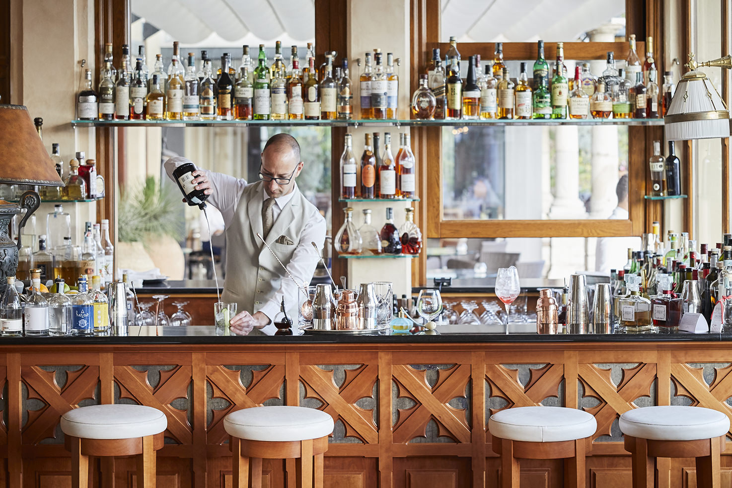 Bar of Grand Hotel Timeo