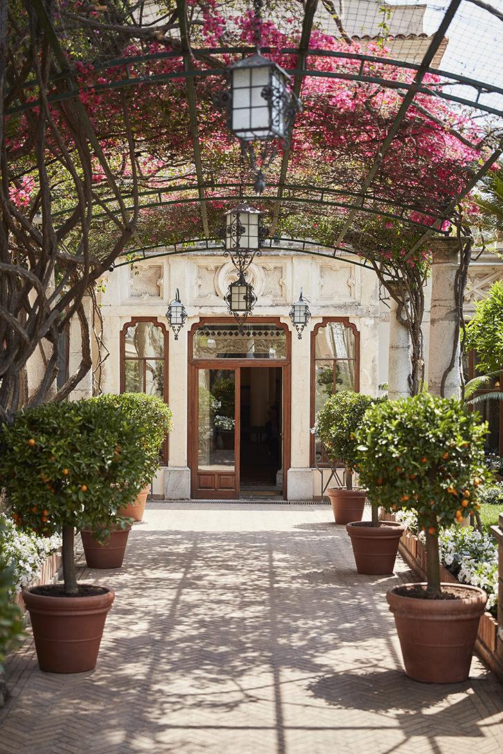 Entrance of Belmond Hotel Timeo