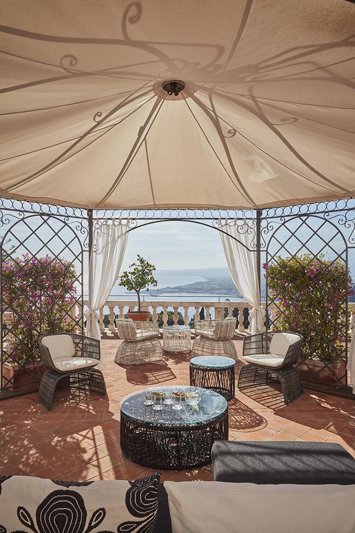 Gazebo on the suite terrace