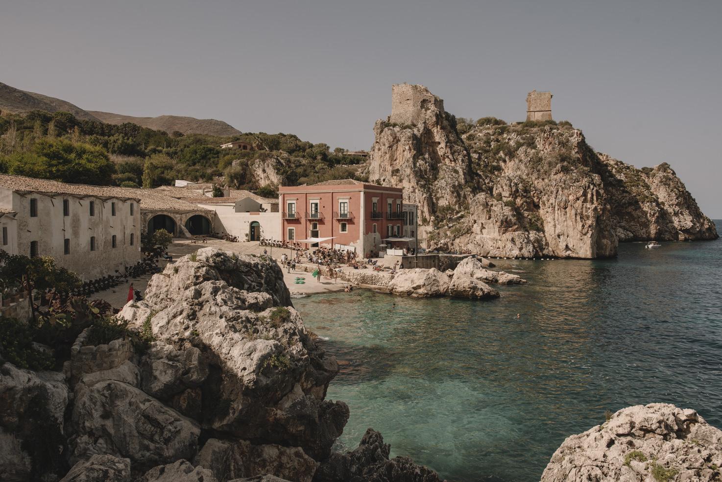 Exterior of Tonnara di Scopello