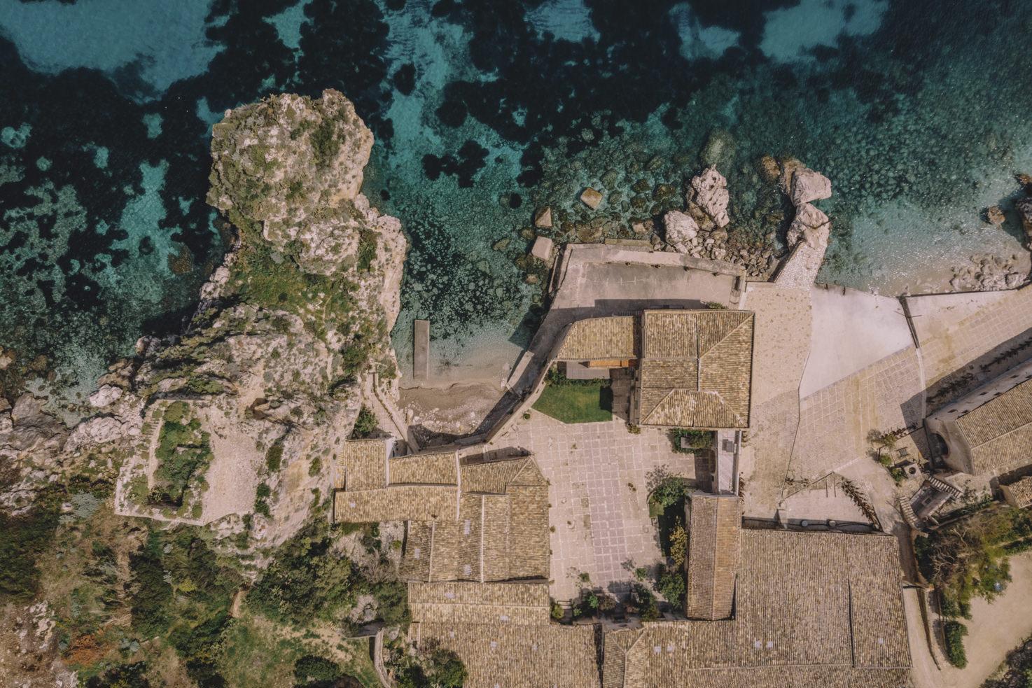 Aerial view of Tonnara di Scopello