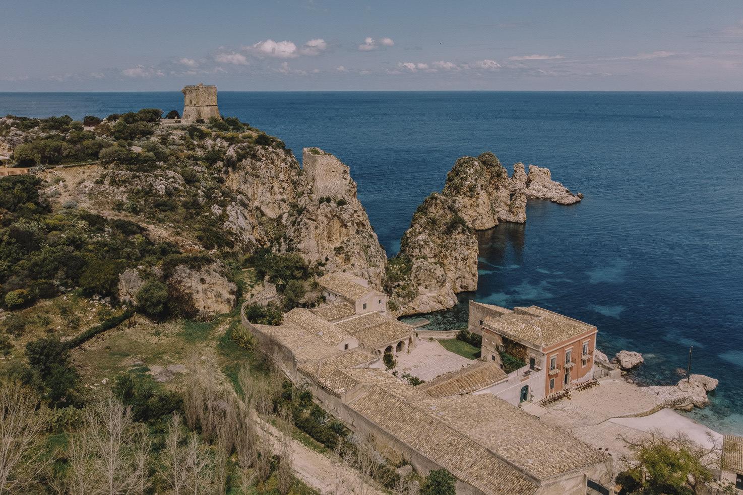 Panoramic view of Tonnara di Scopello