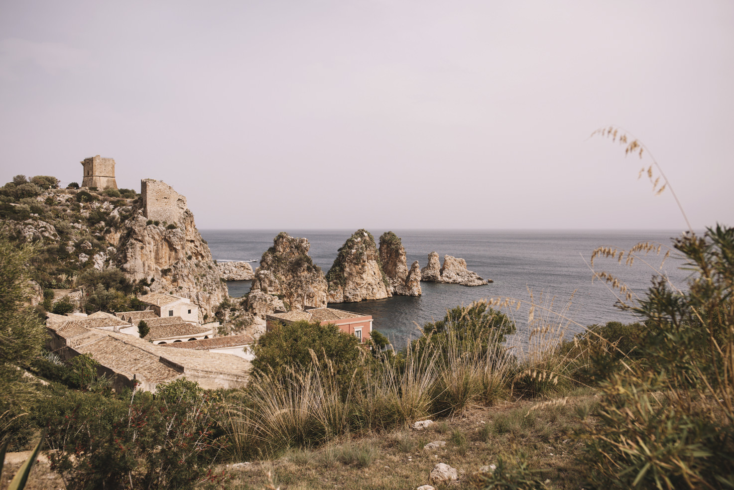 Panorama of Sicily with Tonnara di Scopello