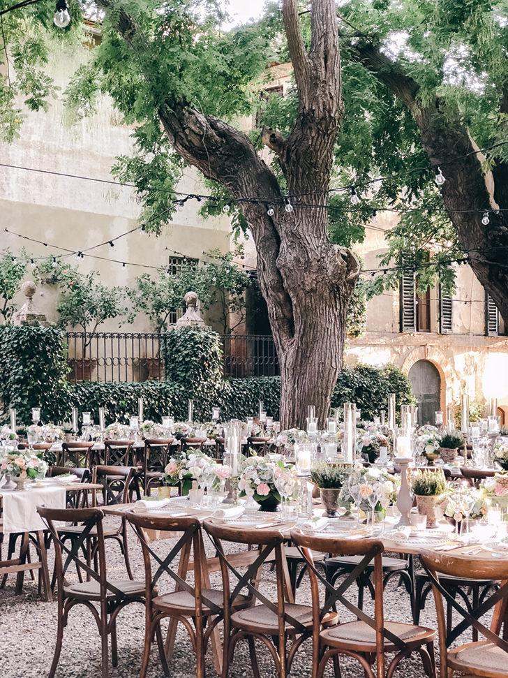 Wedding reception at Borgo Stomennano
