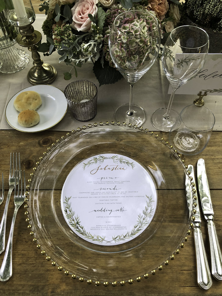 Detail of table setting