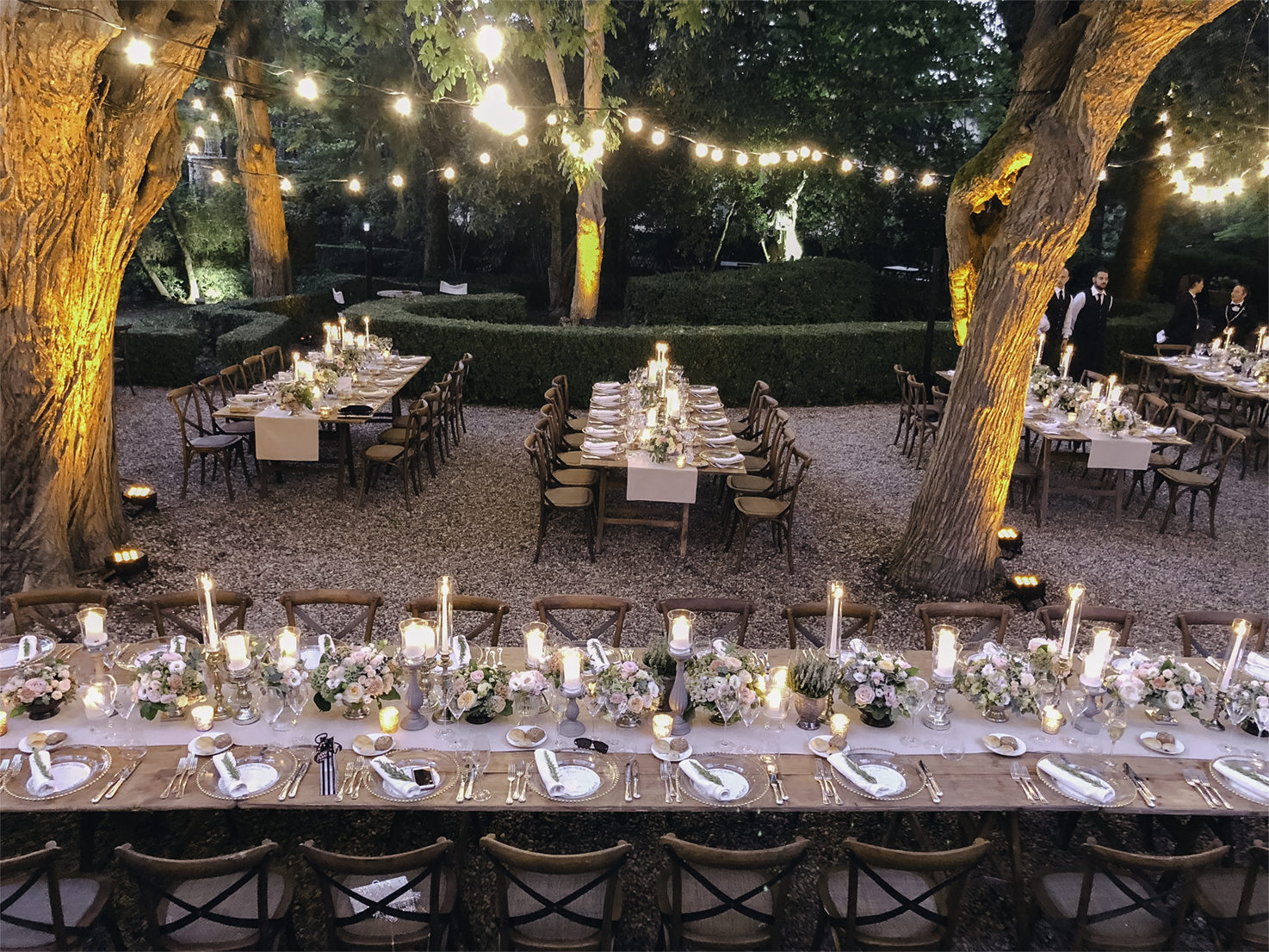Tables for outdoor wedding reception
