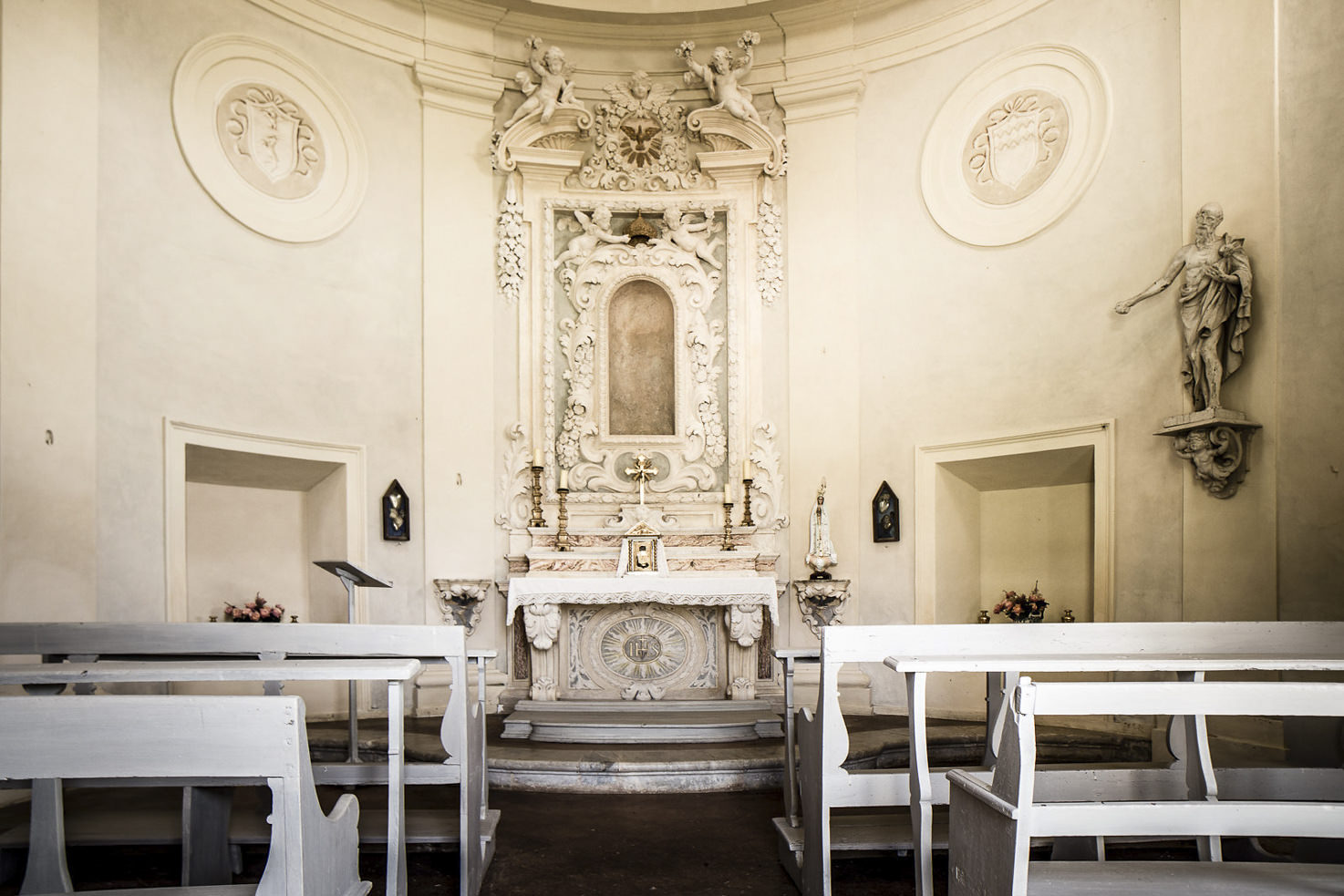 Interior of the castle chapel