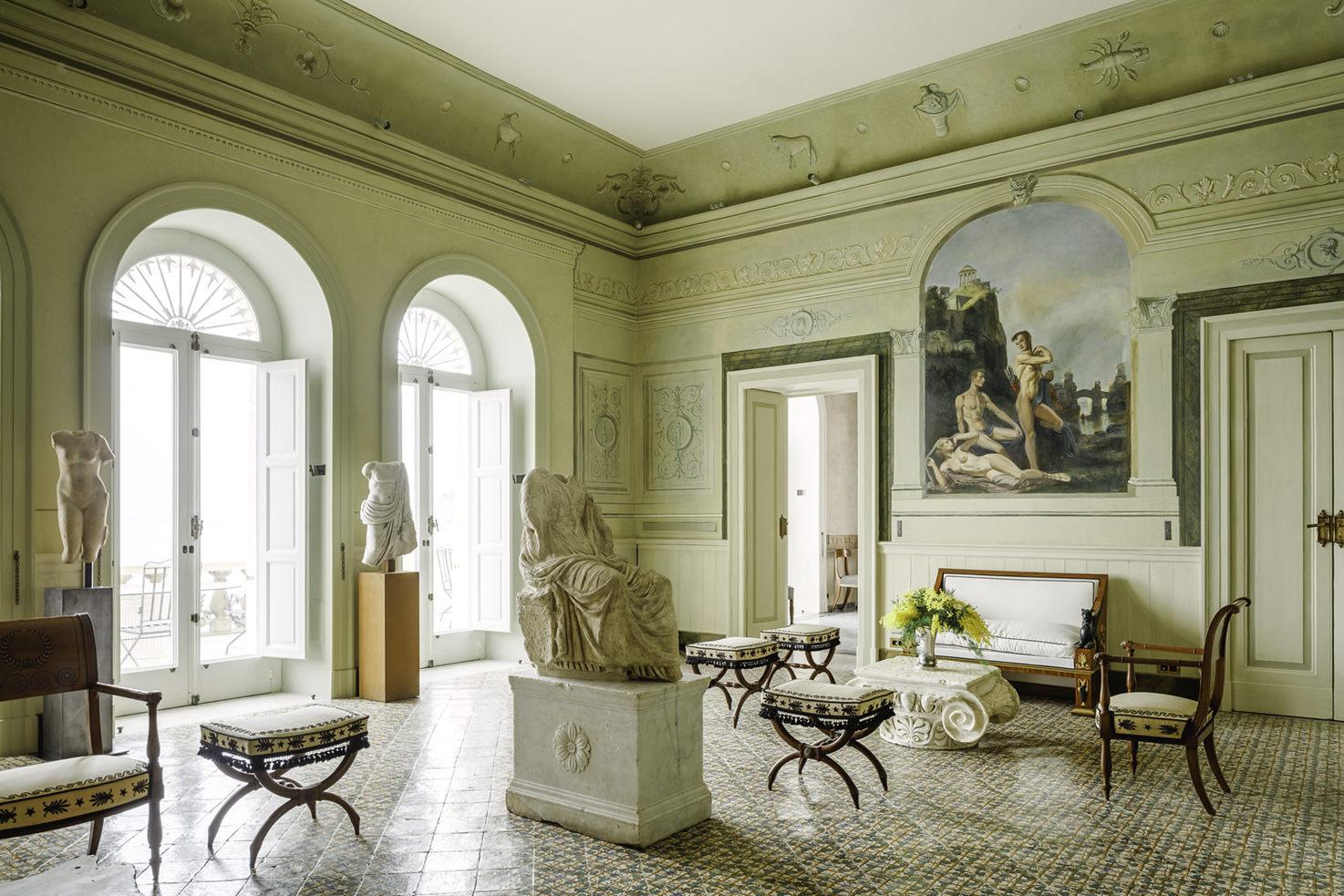 Green Hall of Villa Astor