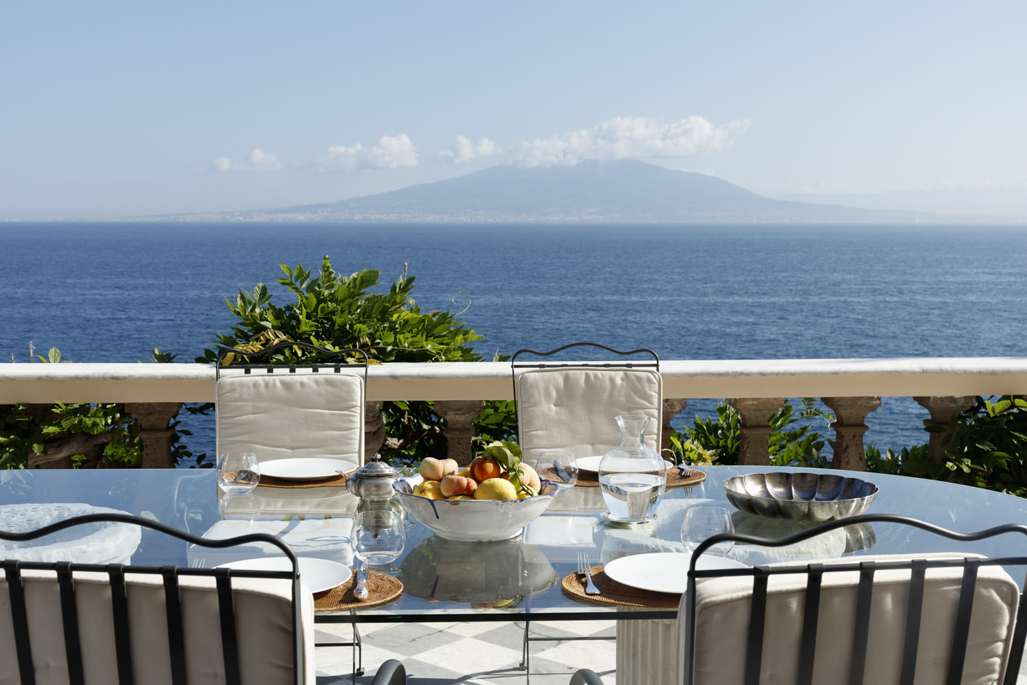 Terrace with seaview at Villa Astor