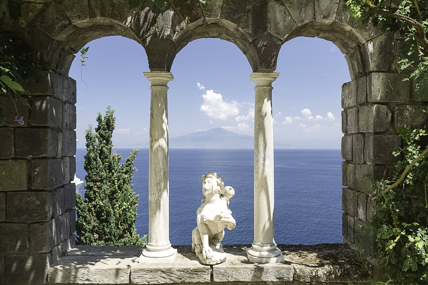 Vesuvius terrace of Villa Astor