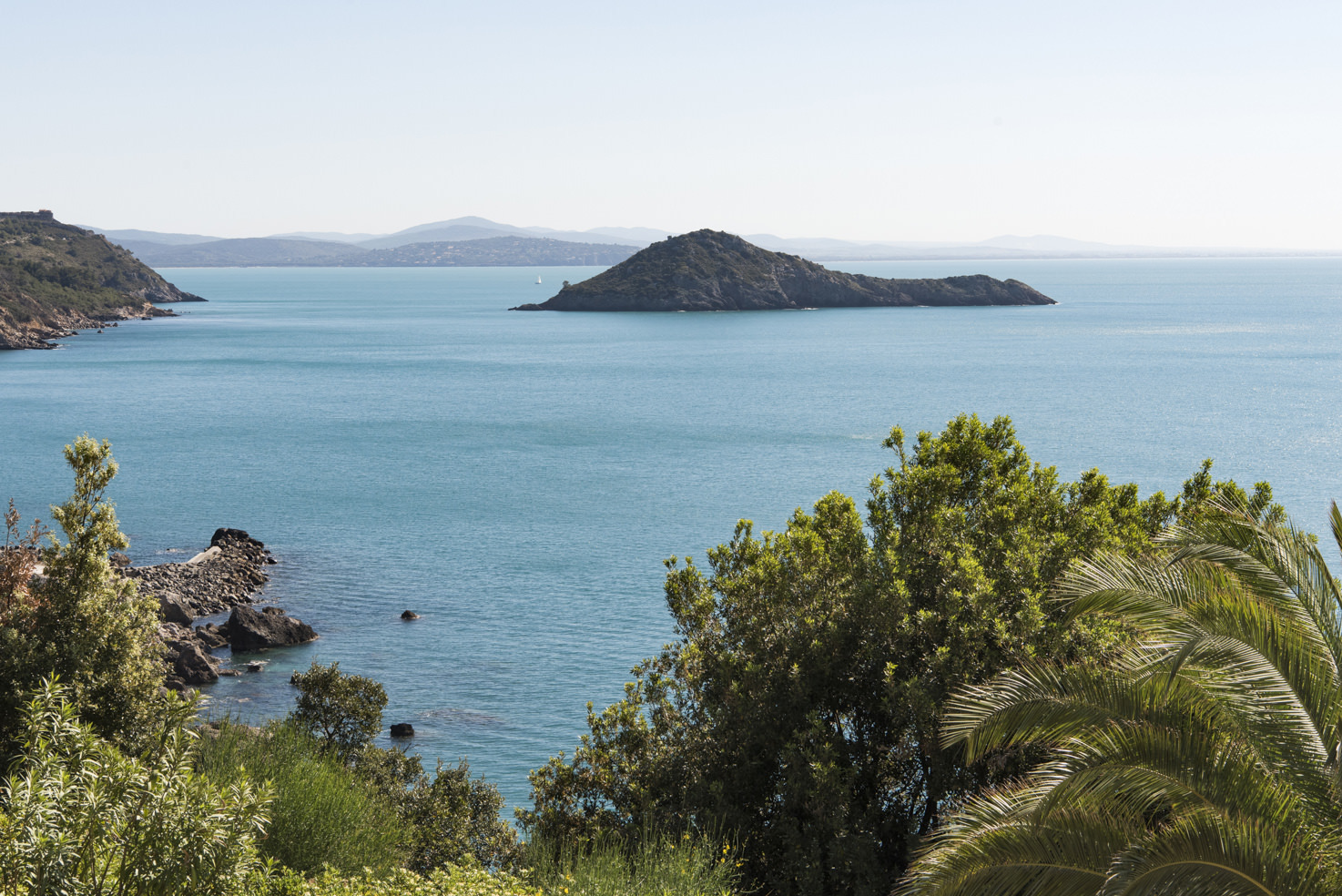 View of the Argentario Gulf in Tuscany
