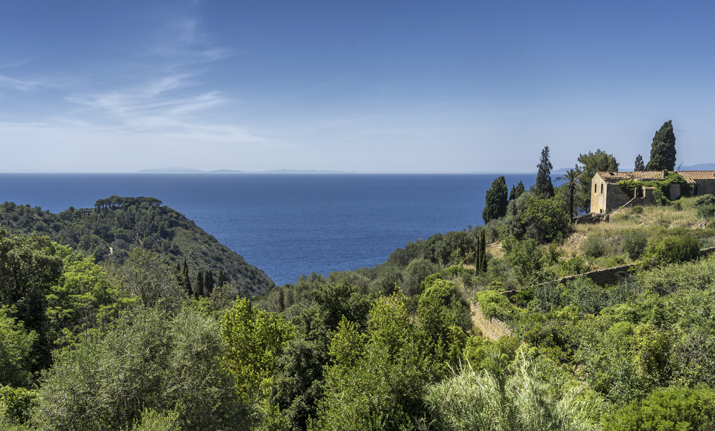 Tuscan landscape by the sea