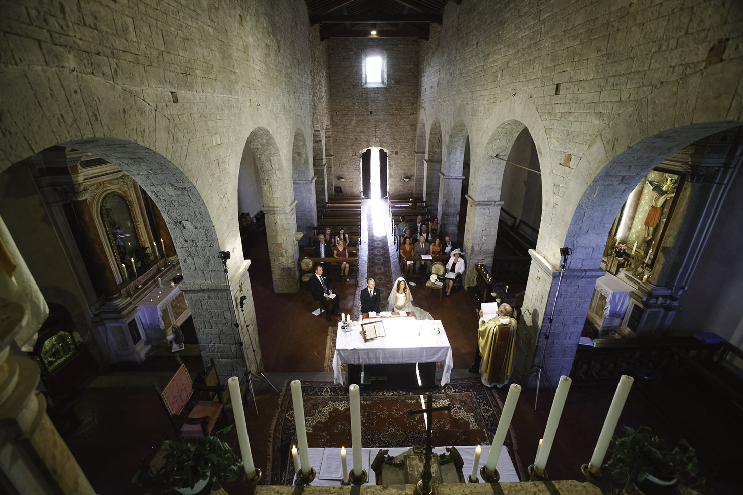 Catholic wedding at Pieve di Spaltenna