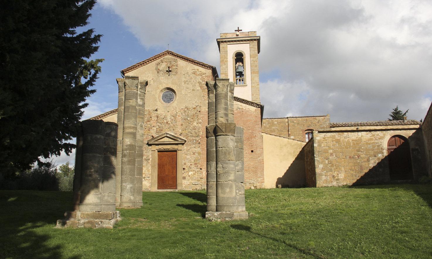 Façade of the romanesque church Pieve di Sant'Appiano