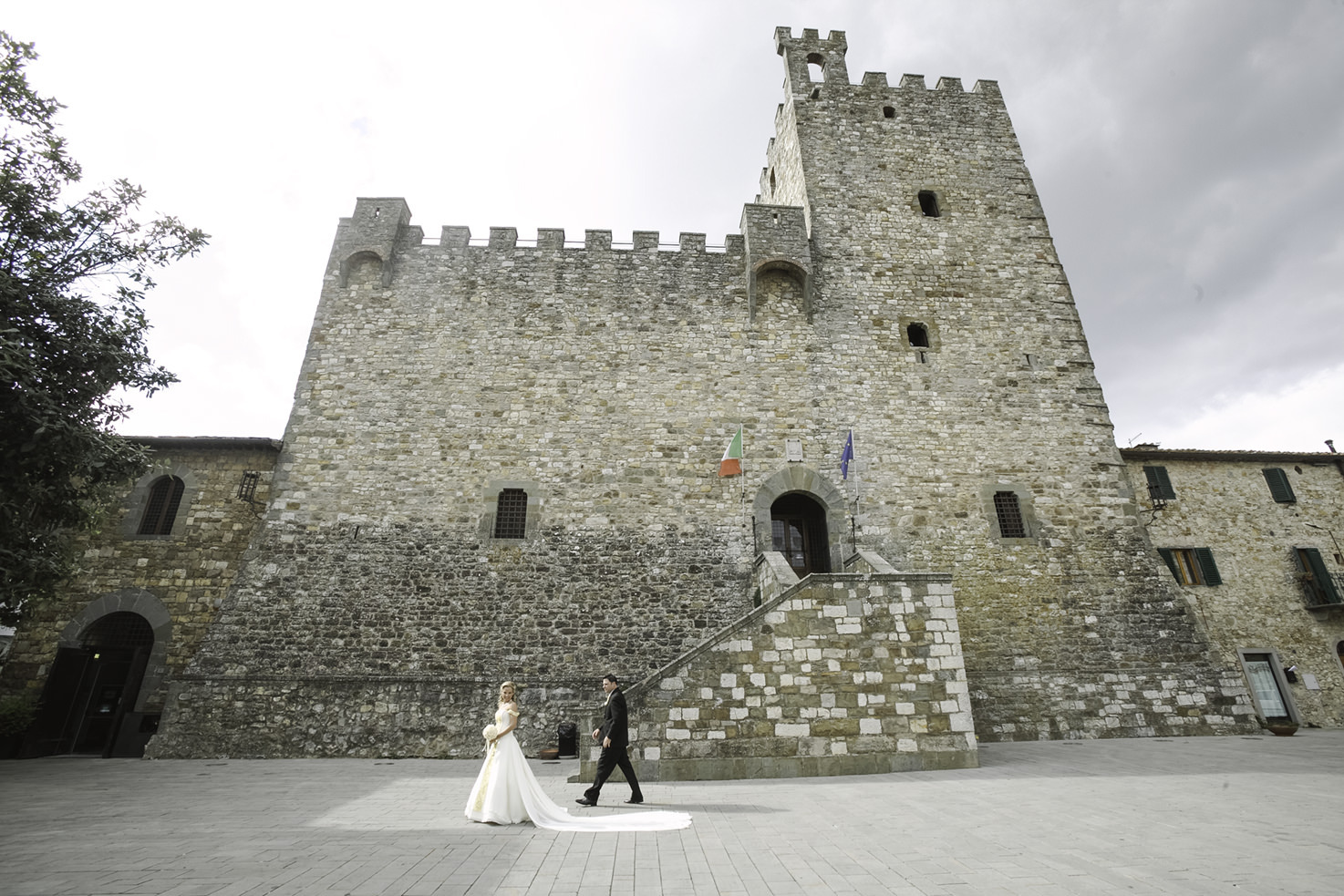 Civil wedding in Castellina in Chianti