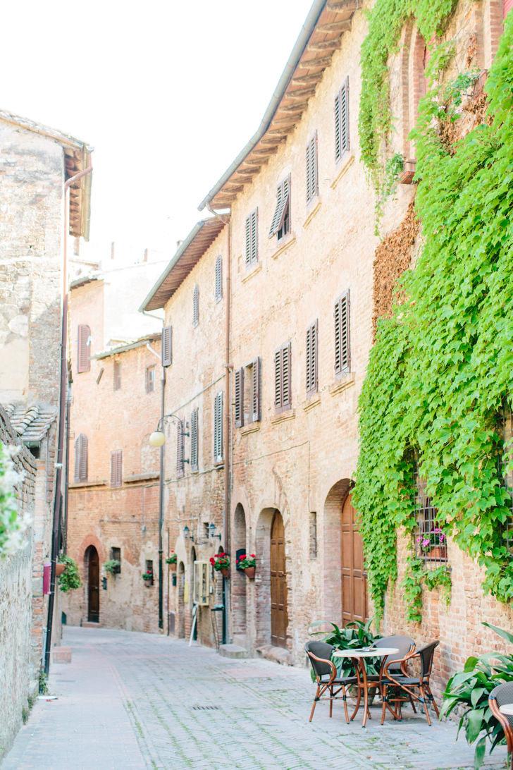 Medieval street in Certaldo