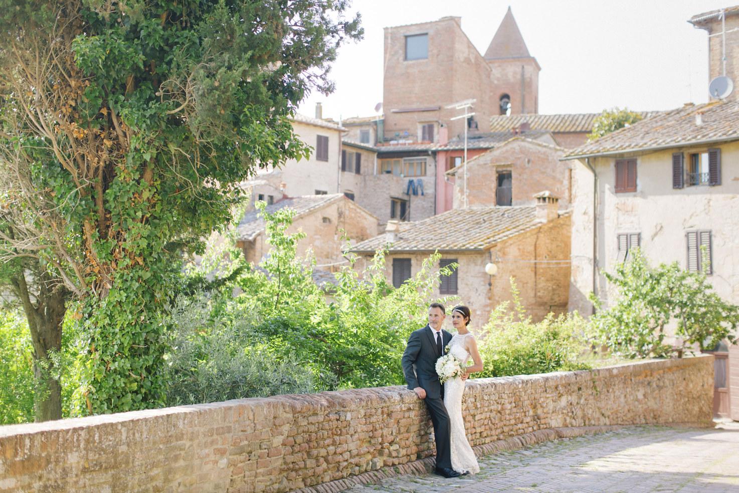 Bridal couple in Certaldo