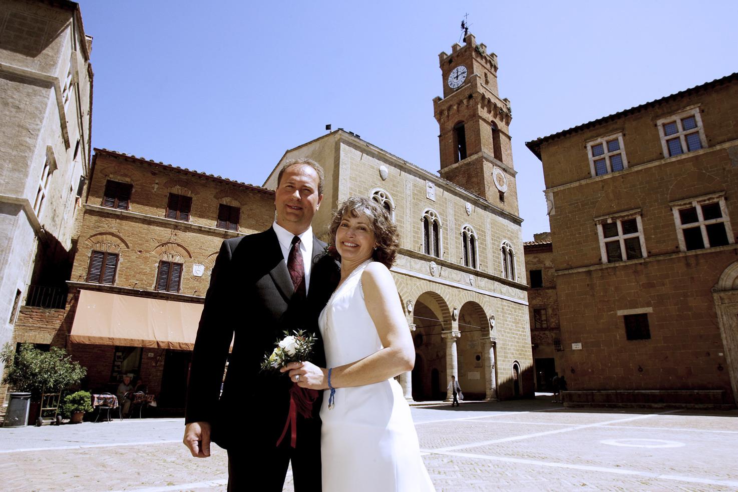 Destination wedding in Pienza