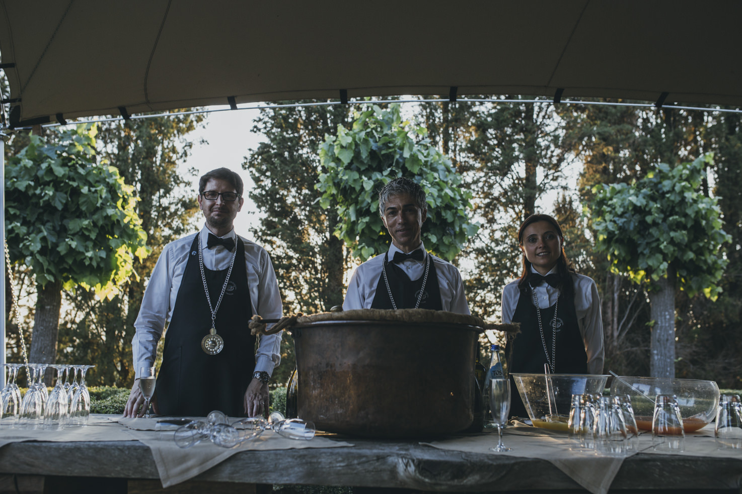 Wedding cocktail in Tuscany