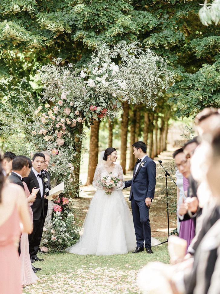 Wedding ceremony at Villa Cetinale