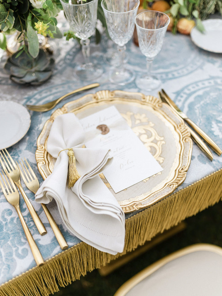 Detail of the table setting