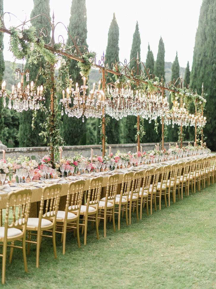 Wedding banquet at Villa Cetinale
