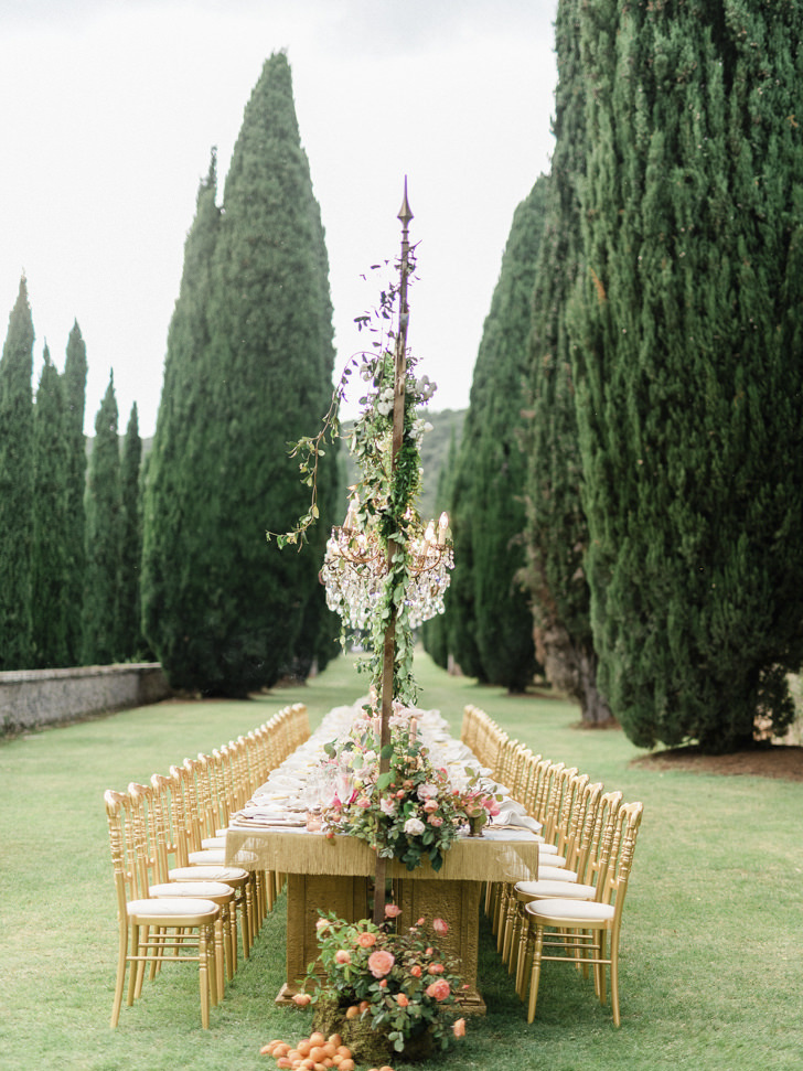 Tables for outdoor wedding banquet