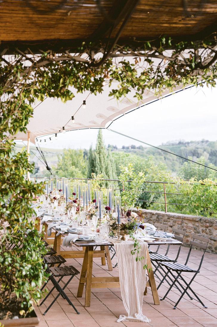 Banquet table at Borgo Petrognano