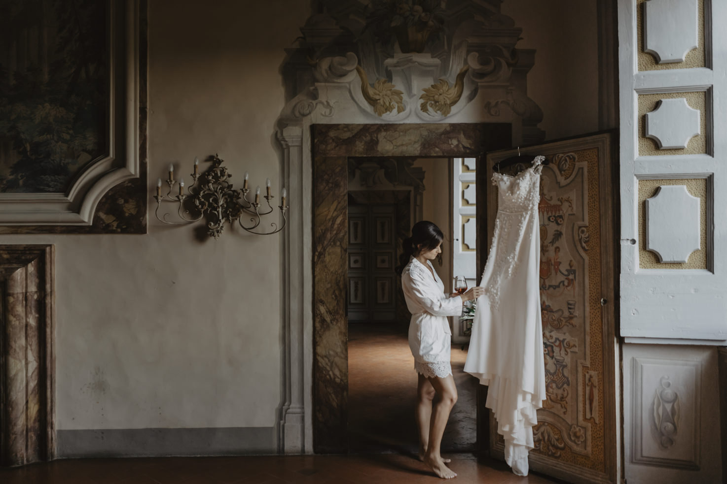 Getting ready at Castello di Meleto