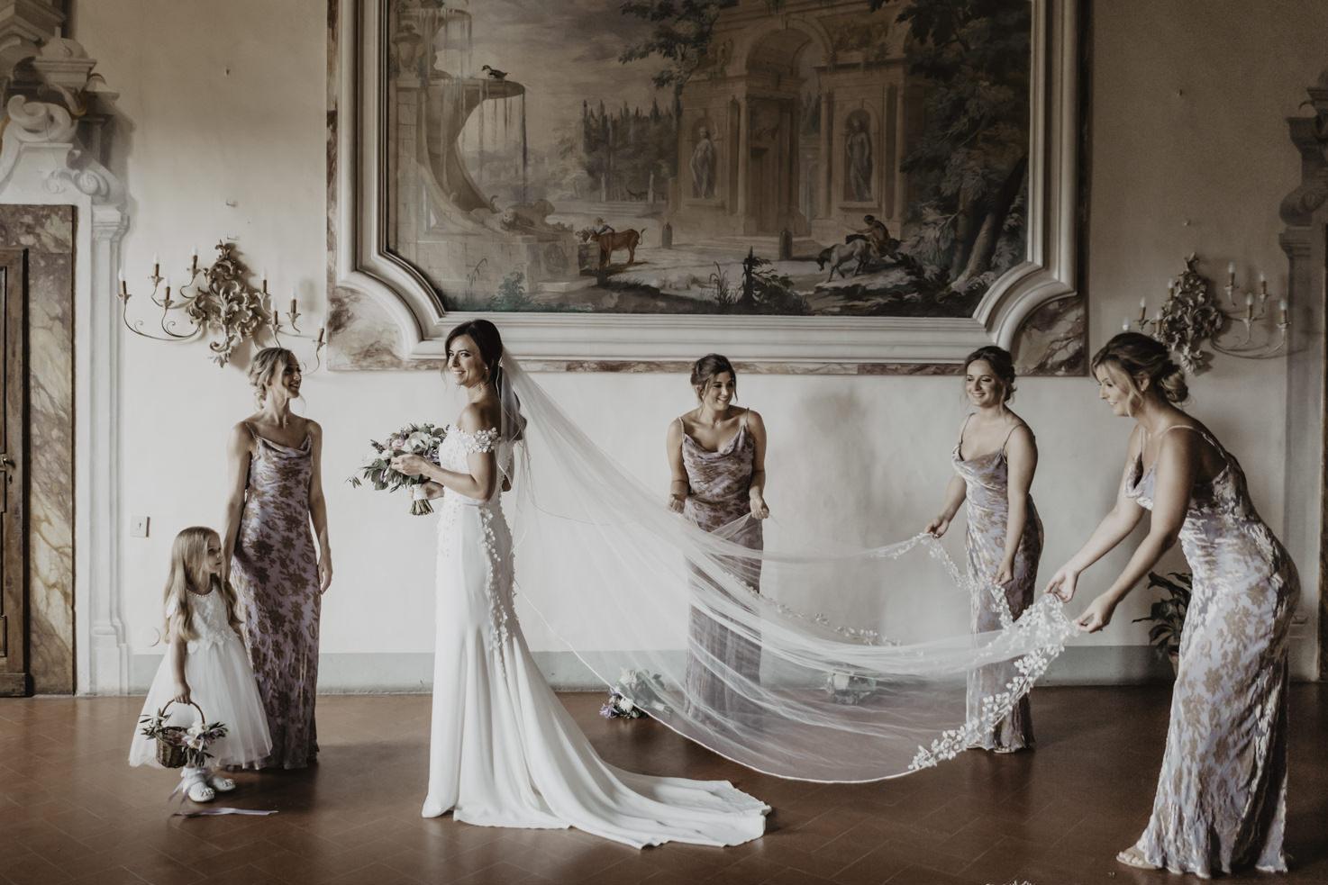 Bride at Castello di Meleto