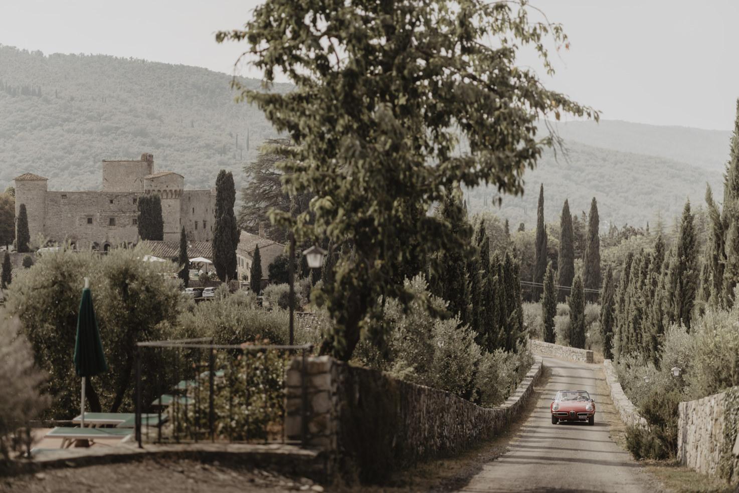 Arrival at Castello di Meleto