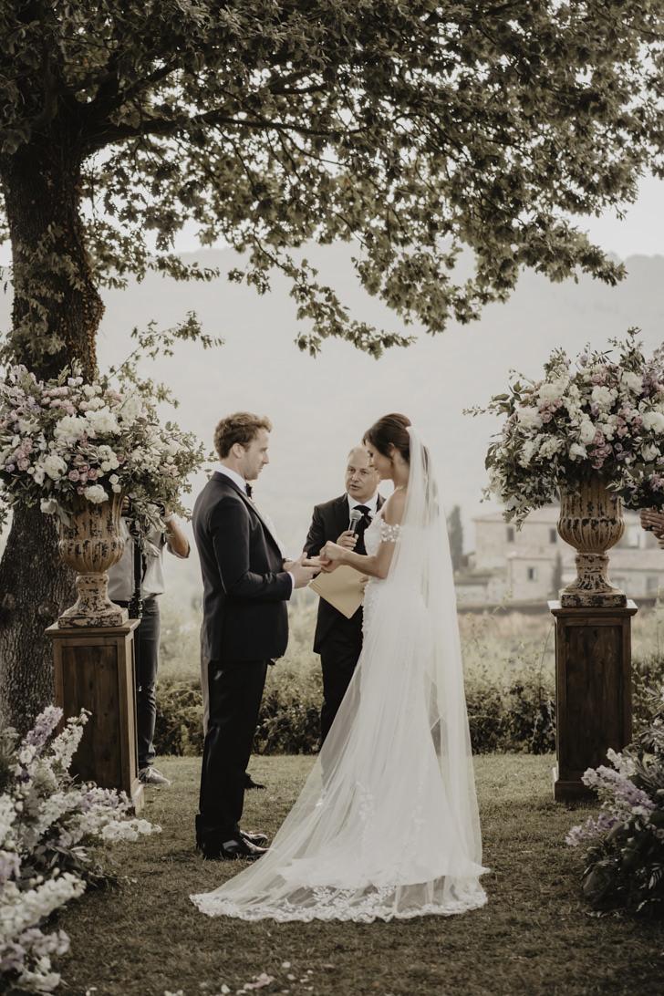 Wedding ceremony at Castello di Meleto
