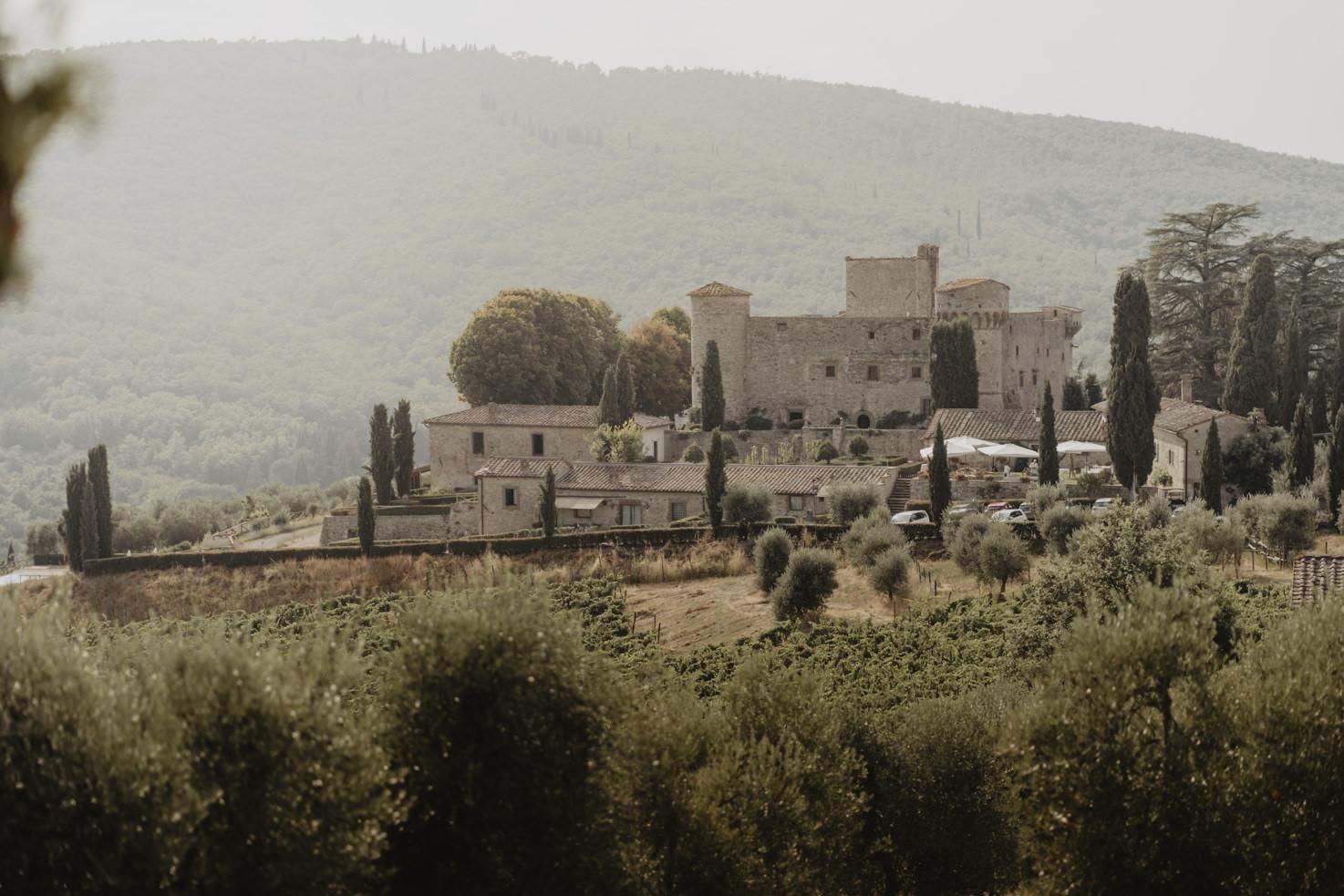 Panorama of Castello di Meleto