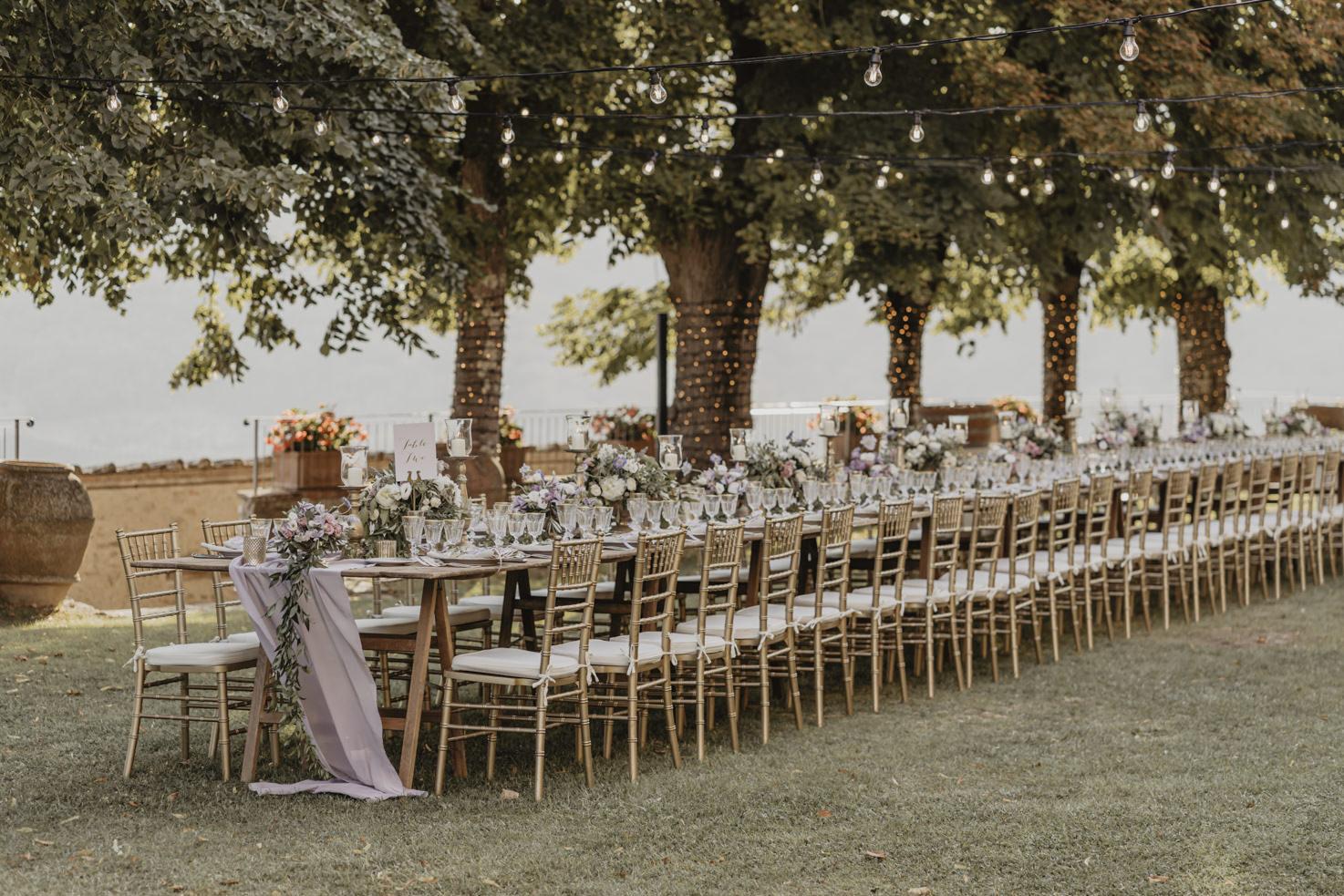 Wedding reception at Castello di Meleto