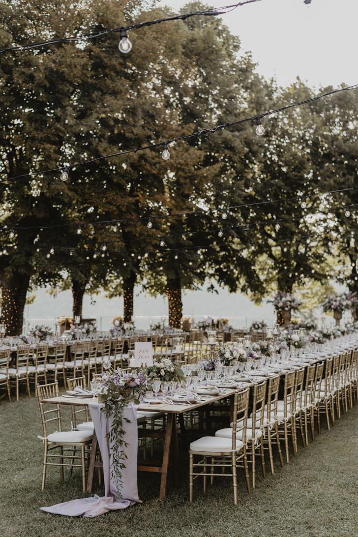 Wedding banquet at Castello di Meleto