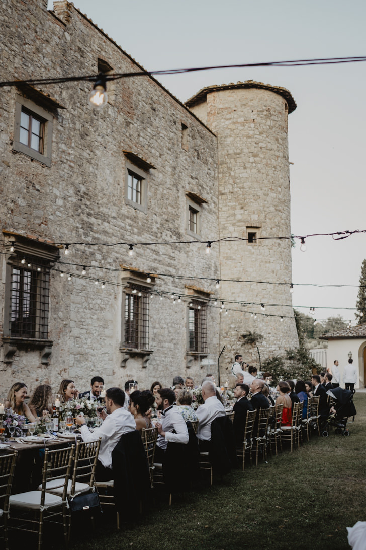 Wedding reception at the castle