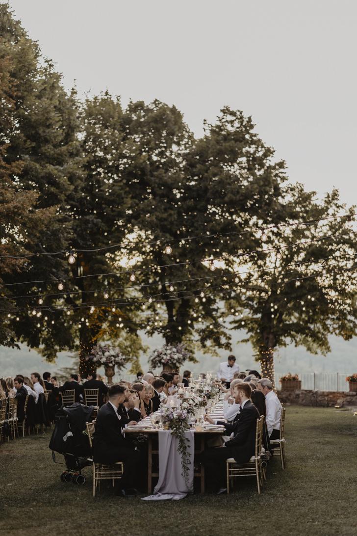 Al fresco wedding banquet
