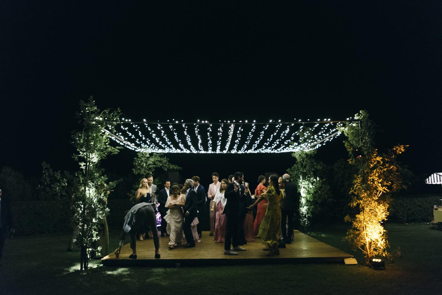 Dance floor at Castello di Vicarello