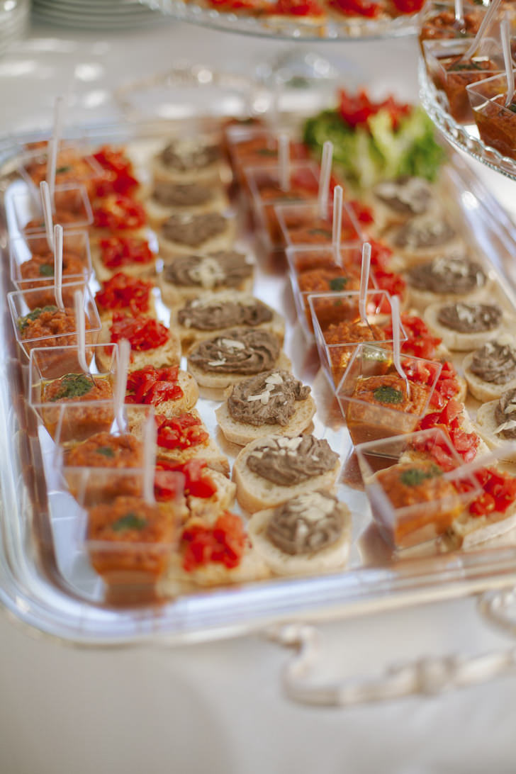 Tasty appetizers for cocktail
