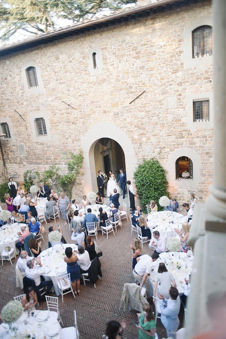 Wedding banquet in the courtyard