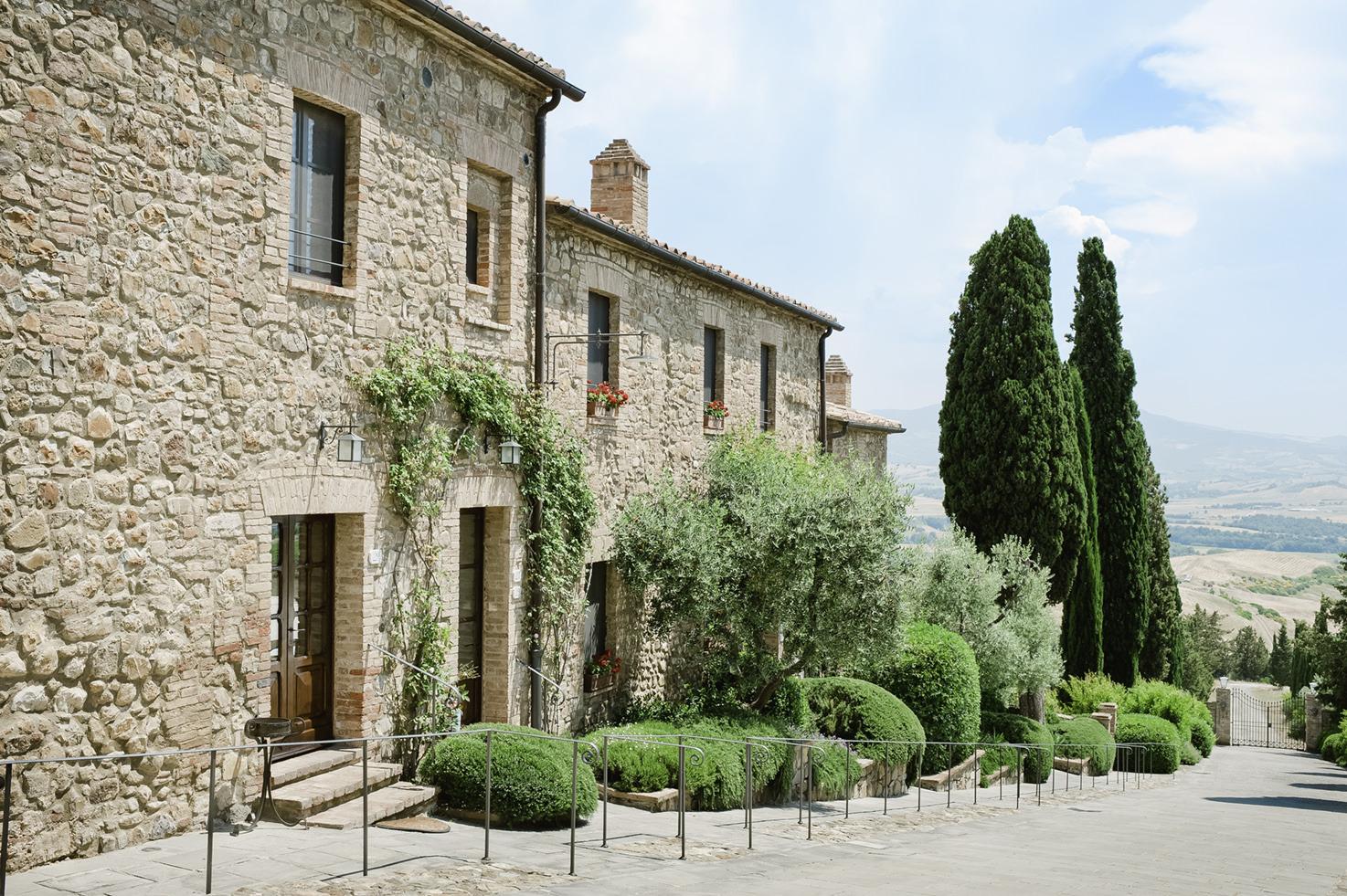 Ancient borgo surrounding Castello Banfi