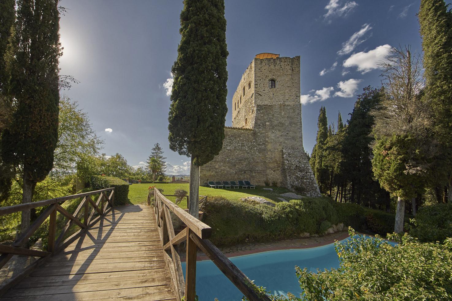 Exterior of Castello di Tornano