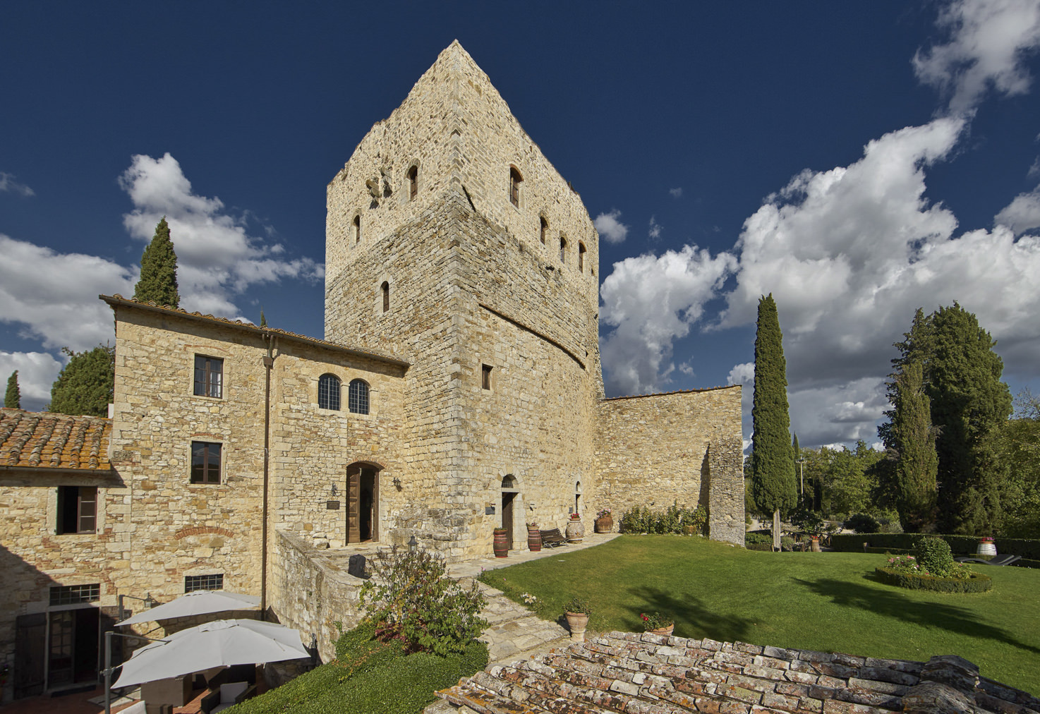 Façade of Castello di Tornano, Tuscany
