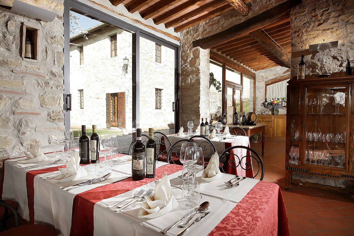 Restaurant at Castello di Tornano