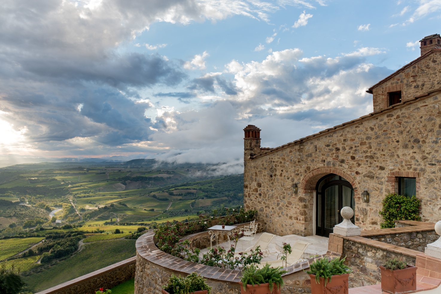 View over the hills of Tuscany