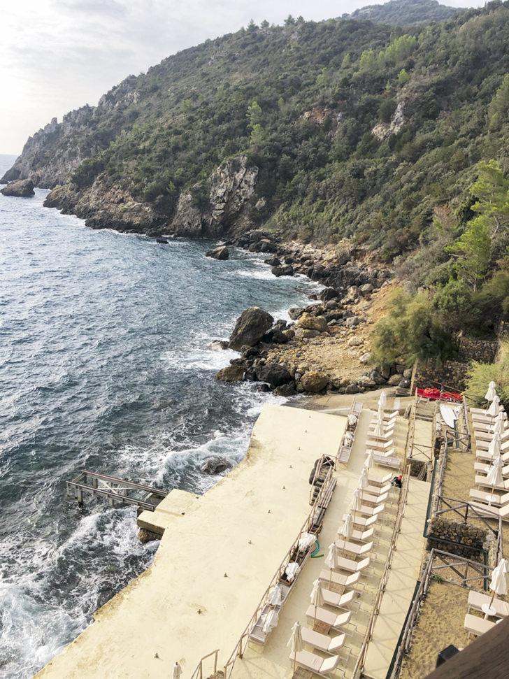 Panoramic view of the beach club