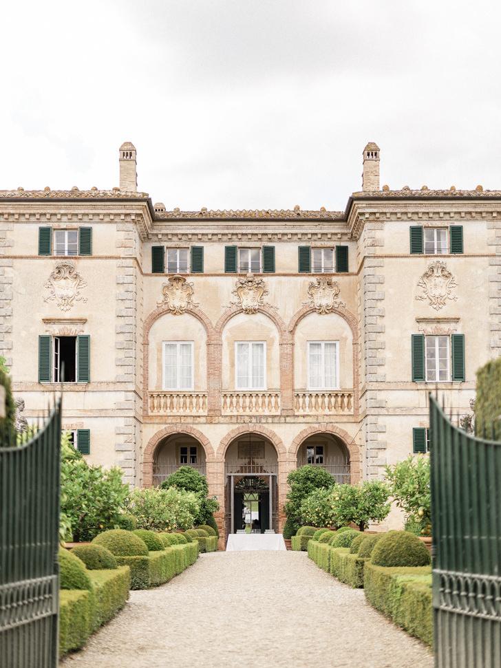 Arrival at Villa Cetinale
