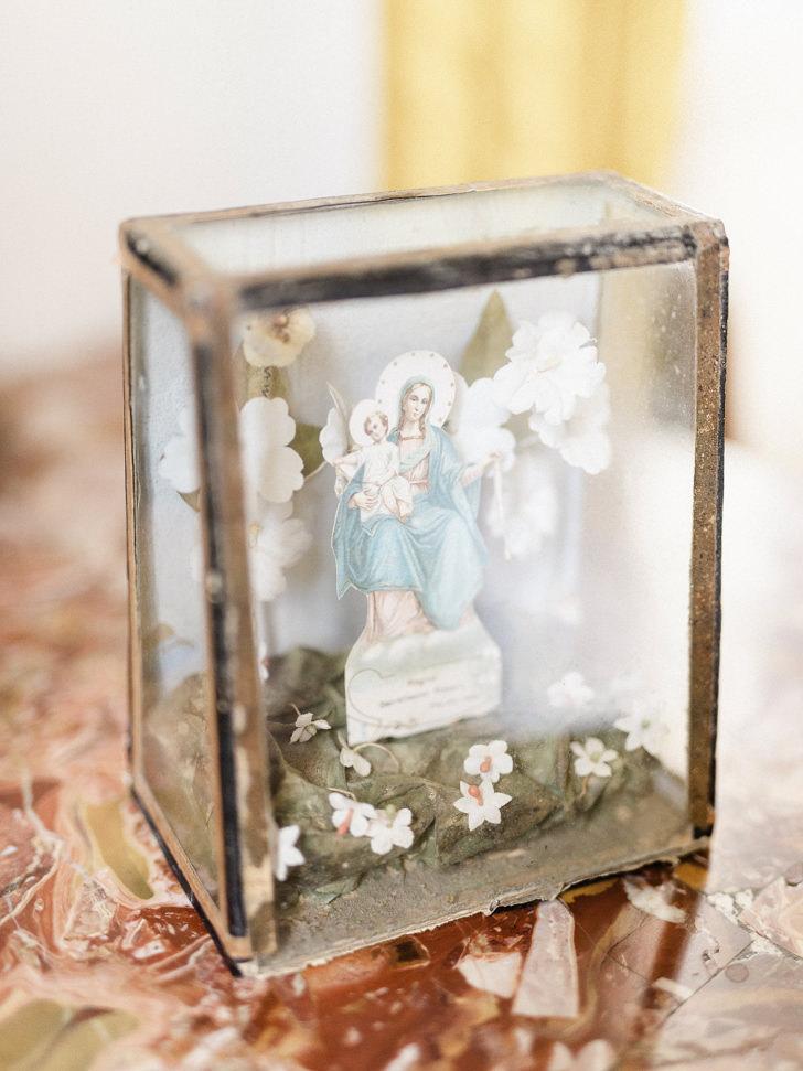 Framed holy card