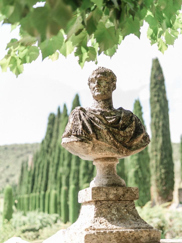 Roman statue in the gardens