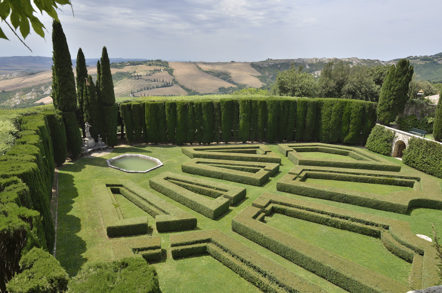 Ceremony area in the gardens